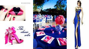 Royal Blue and Pink