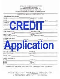 Personal Credit Application Forms