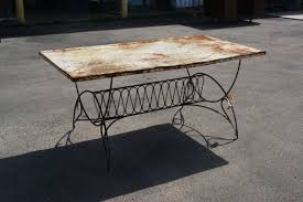 art deco outdoor furniture. 5.5 Ft Vintage Art Deco Metal Outdoor Patio Dining Table . Furniture