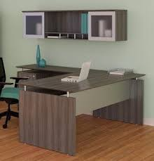 finished office makeover. Amazing Gray Office Desk In Aberdeen Steel Finished Set AT10LGS Makeover