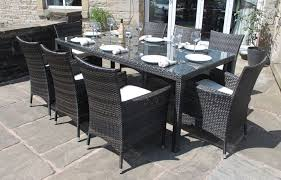 outdoor dining sets for 8. Rectangular Patio Table Seats 8 Design Ideas Dining Sets Inside Outdoor Tables For U