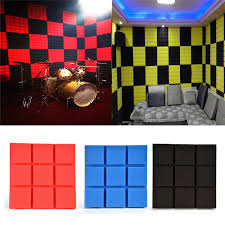 sound insulation for walls. 1pcs Soundproofing Foam Acoustic Panels Noise Reduction Absorption Wedge Tiles Sound Insulation KTV Studio Room Wall For Walls