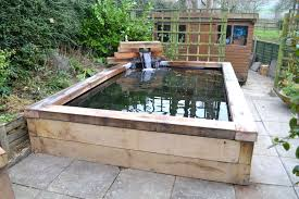 koi pond above ground round ideas