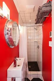New Bathroom Style Simple Appealing Beach Style Bathroom Design Interior Applied Red Painted