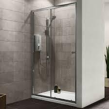 Plumbsure Single Sliding Shower Door (W)1200mm | Departments | DIY at B&Q