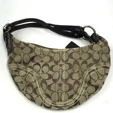 COACH  10599 Signature Soho Hobo Brown Monogram Jacquard Purse Handbag -  ReuseNation