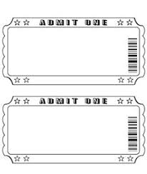ticket sample template printable ticket templates templates and samples