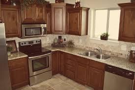 dark glazed knotty alder whole kitchen cabinets
