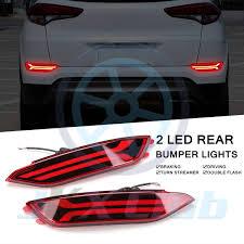 Hyundai Tucson Rear Light Details About Led Rear Bumper Reflector Fog Driving Brake Stop Light For Hyundai Tucson 15 17