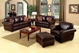 Living Room With Brown Leather Couch Seating Furniture Andifurniturecom