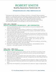 quality assurance technicians quality assurance technician resume samples qwikresume