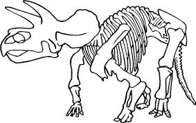 Realistic Dinosaur Bones Coloring Pages Printable Coloring For