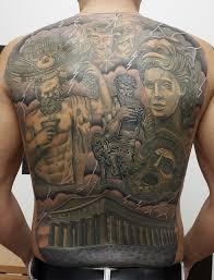 греческий пантеон тату на спине у парня добавлено юрий сурков