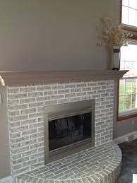 Light Grey Painted Brick Fireplace Completed Fireplace Painted Over Red Brick In 2020 Brick