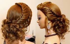 Prom Hair Style Up hairstyle for long hair tutorial cute prom updo with braids youtube 5038 by wearticles.com