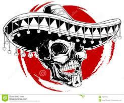 мексиканская татуировка черепа иллюстрация вектора иллюстрации
