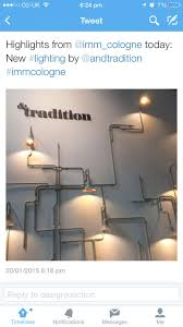 Conduit lighting installation at Cologne