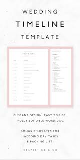 013 Template Ideas Wedding Day Itinerary Free Timeline