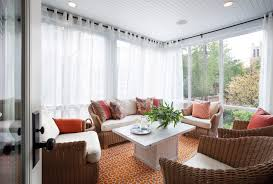 Sunroom - transitional orange floor sunroom idea in Chicago with a standard  ceiling