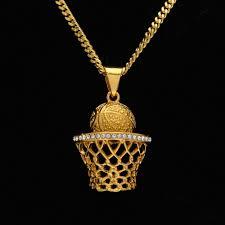 whole mens hip hop chain 18k gold plated basketball frame pendant necklace fashion dj gemstone pendants necklaces men jewelry statement necklaces gold