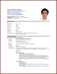 Latest Resume Format Sample In The Philippines Valid Enchanting