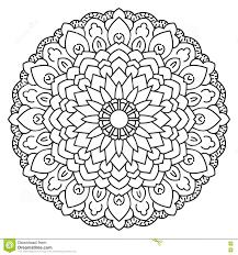 Symmetrical Circular Pattern Mandala Stock Vector Illustration Of