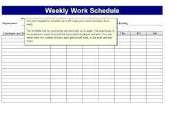 Printable Weekly Employee Schedule Download Them Or Print