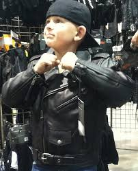 kids boys girls motorcycle leather jacket the classic