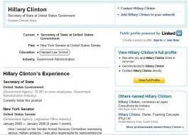 77 Responses to Educational Details Misrepresented on LinkedIn Page of . .  . Hillary Clinton? (Update: Another Resume for O'Donnell Making Similar  Claim ...