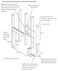 direct vent gas fireplace framing installing gas fireplace insert drawing installing gas fireplace insert installing gas