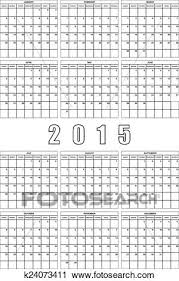 Clipart Of 2015 Planner Calendar Big Editable Space K24073411