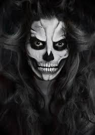 black and white creepy and beautiful makeup