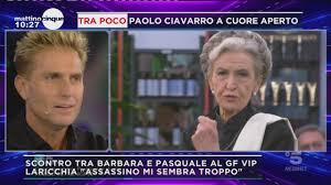 Barbara Alberti VS Pasquale Laricchia al GF VIP 4 | Video Mediaset Mattino  Cinque