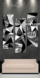 3 piece wall art black and white