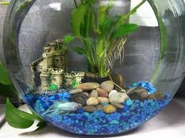 Small Fish Bowl Decorations small round aquarium decoration ideas original imaginative http 2