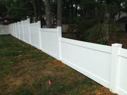 Vinyl solid picket fence Scallop Solid Vinyl Fence Mt Hope Fence Vinyl Fence Amechi Fence Company