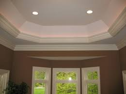 tray lighting ceiling. A Well Proportioned Tray Ceiling Detail With Traditional Crown Profiles And Back Lighting