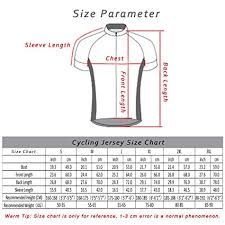 Cycling Jersey Size Chart Cycling Jersey Bicycle Clothing Short Sleeve Zipper Bike Breathable Shirt Top For Men