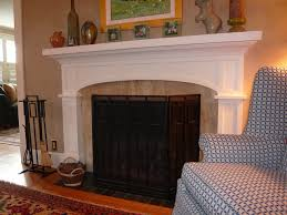 oppenheimer fireplace surround craftsman style with elliptical arch craftsman living room
