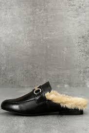 steve madden jill loafer slides faux fur loafers slip on loafers 89 00