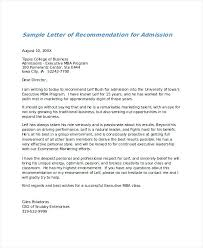 college admissions letter of recommendation sample samples of letter recommendation basic example for college