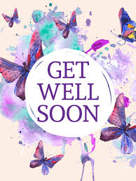 Get Well Card Purple Butterflies Get Well Card Birthday Greeting Cards