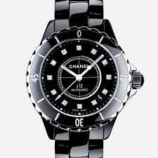 j12 black chanel j12 black ceramic and steel diamond indicators