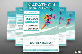 Fundraising Flyer Marathon Fundraiser Event Free Psd Flyer On Behance 9