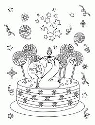 Small Picture Happy 2nd Birthday coloring page for kids holiday coloring pages