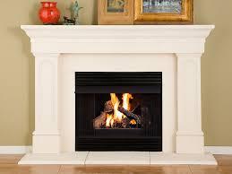 hayden thin cast stone fireplace mantel kit