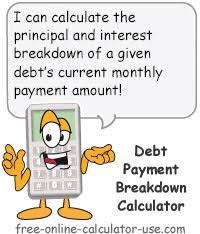 Interest And Principal Payment Calculator Debt Payment Calculator For Principal And Interest Breakdown