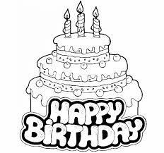 Coloring Pages Happy Birthday Cake For Kid Coloring Drawing Free