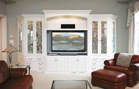 custom cabinets tv. Modren Cabinets Painted White Intended Custom Cabinets Tv M