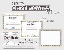 Award Paper Template Magnificent Certificate Template Set DIY Award Certification Diploma Etsy